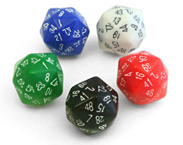 Photo of 48-sided dice